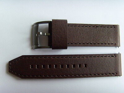 fossile Original spare Leather wrist band ME1122 Watch strap brown 24 mm
