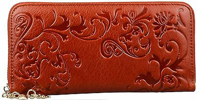Women Genuine Leather long Wallet Purse Credit Card Clutch Handbag Holder Case