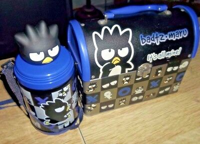 Near Mint Badtz Maru Dome Metal Lunch Box & Thermos It's All Mine Made in Japan