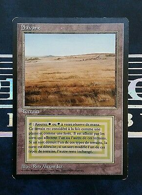 "Carte Magic Mtg "" Savane / Savannah "" VF 3ème Bords Noirs FBB Dual Land / Biland"