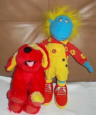 "Tweenies Bella & Doodles Soft Toys 14"" BBC 1999 Gd/Con"