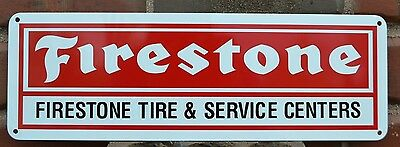 FIRESTONE TIRES SIGN SERVICE CENTER Shop Mechanic Tire Garage AD Free Shipping