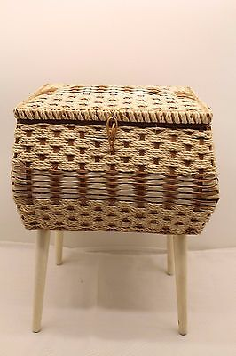 Vintage Mid Century Dritz Sewing Basket Box With Legs HTF! Style # 6101