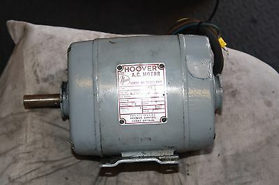 3 phase (HOOVER) Electric Motor 3/4 Hp 1425 RPM
