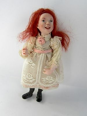 Dollhouse Doll Young Girl Lace Dress Red Hair