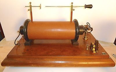 Huge and Powerful Working Induction Spark Coil Transformer Marconi Era Wireless