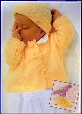 Gorgeous BABY Knitting Pattern knitted in  8 Ply CARDIGAN Bolero Jumper