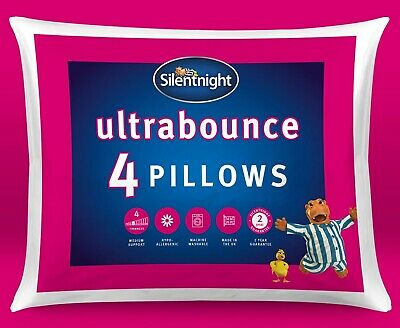 Silentnight Ultrabounce Extra Full Springy Hollowfibre Pillow - 4 Pack
