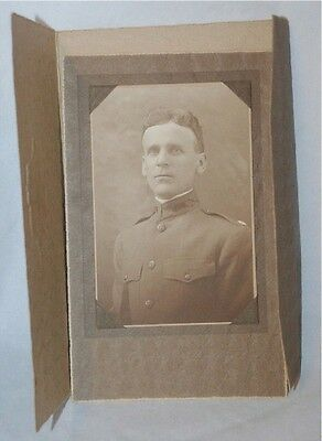 "Antique 1880's Blk & White Photograph 4""x 6-Military /Soldier - VINTAGE - NICE !"