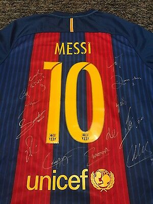 Barcelona FC 2016/2017 signed jersey with COA