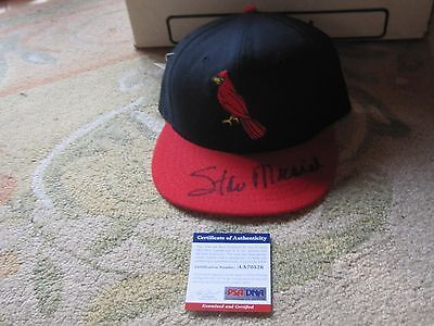 Stan Musial Autographed Baseball Hat PSA Certified Boston