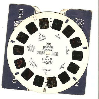 Viewmaster Reel - 981-  Garden Flowers of Summer