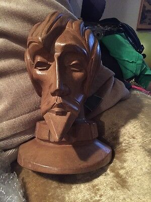 Wood Carved Man Face ( Quixote?)