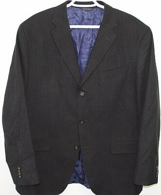 Banana Republic Pinstripe Blazer Size 46 R/S  Modern Fit  Made in Egypt  Cotton