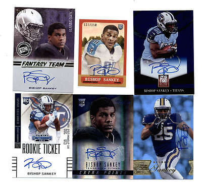 LOT OF (9) BISHOP SHANKEY 2014 ROOKIE AUTOGRAPH and AUTO JERSEY RC #ED H5170