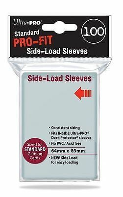 SIDE LOAD Ultra Pro - 100 ct Standard Size PRO-FIT - Perfect Fit Sleeves - 84649