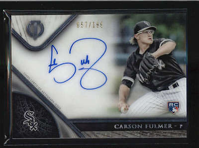 Carson Fulmer 2017 Topps Tribute Rookie Rc On Card Autograph Auto #/199 H6067
