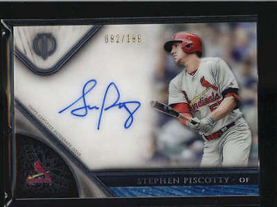 Stephen Piscotty 2017 Topps Tribute On Card Autograph Auto #092/199 H6068