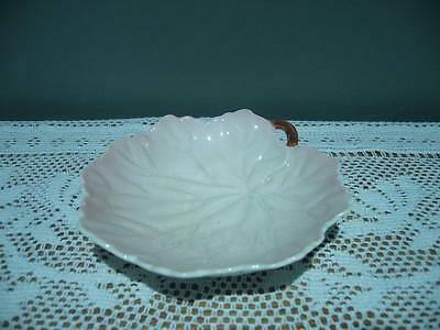 Vintage Carlton Ware England Leaf Shaped Small Pink Dish - Reasonable Condition