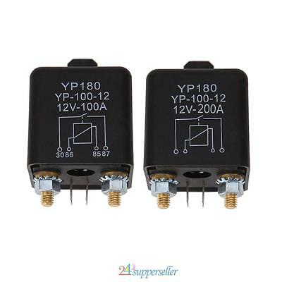 Car Truck Motor Automotive Relay 24V/12V 200A/100A DC Power Continuous Type NEW