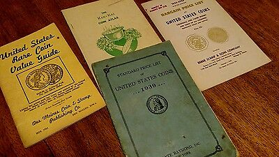 Lot of 4 vintage old  coin collecting booklets 1939 49 50 rare coin