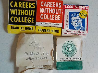 Vtg Match Book Covers Lot #11 President Kennedy Stamps Careers without College