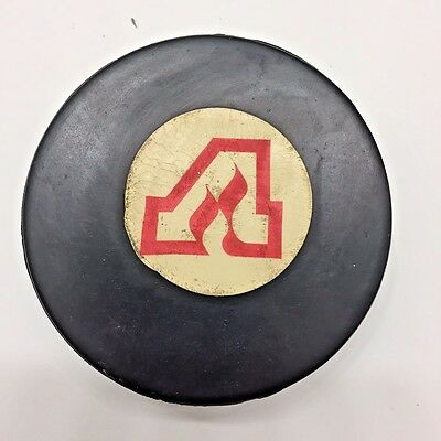 Rare 1977-80 NHL Atlanta Flames Viceroy Rubber Crested Game Puck