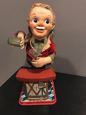 Vintage 1960's Bartender Tin Toy Charlie Weaver NO RESERVE - NOT TESTED