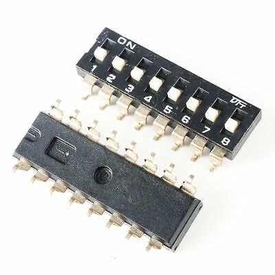 1pcs,Black 2.54mm Pitch Double Row 4 Pin 2 Position Way SMD DIP Switch