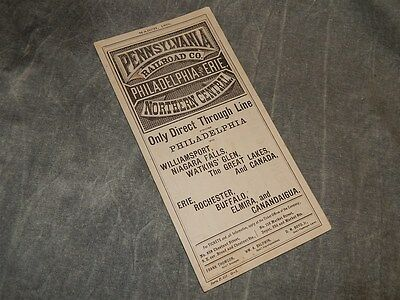 March 1876 Pennsylvania Railroad Philadelphia and Erie Timetable Time Table