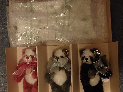 Annette Funicello Sushi Platter 3 Bear Set! NIB! #500 of 10,000! Very Rare