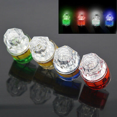 LED Deep Drop Underwater Diamond Flashing Fishing Light Squid Strobe Bait Lure