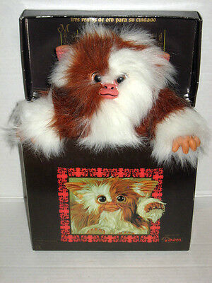 """Gremlins Gizmo Mogwai Doll 10"""" 26cm with Box 1990 Quiron Made in Spain Prop Size"""