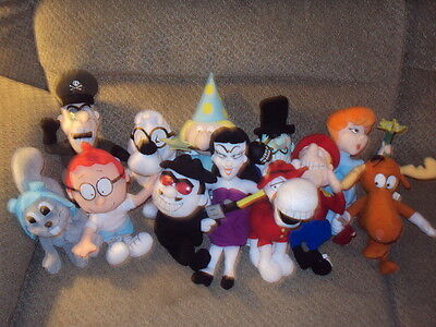 1999 Stuffins The Adventures Of Rocky And Bullwinkle And Friends Plush -Compl