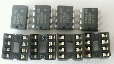 USA ship 4pc Atmel AT24C256B 256KB I2C CMOS Serial EEPROM Arduino compatible..