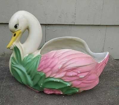Vintage USA Pottery Hull Swan Planter, #UP33, Nice Pink Color!  Mid Century