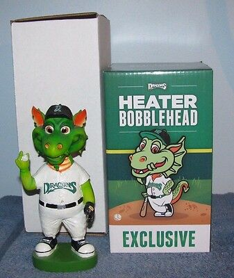 Dayton Dragons Heater Bobbleheads 2001 and 2016 Two Bobbleheads