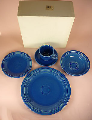 Fiesta Sapphire 5-Piece Place Setting - W/box - Never Used - Retired Color