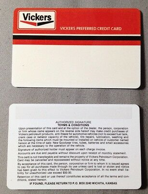 Credit Card Blank RARE! Vintage VICKERS Petroleum Corp. (Set Of 10) Collectible