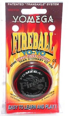 Yomega FIREBALL YO-YO - Record Breaking Spins - Spins 3 Times Longer - RED