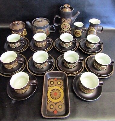 Vintage Denby Arabesque - 34 Piece Tea & Coffee Set
