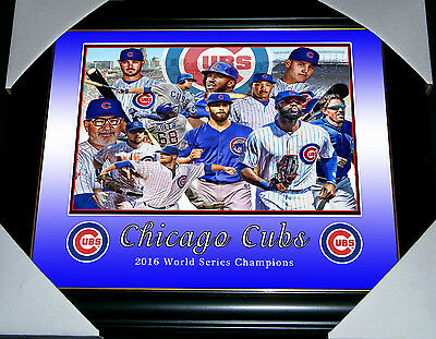 Chicago Cubs 2016 World Series Champions Baseball League Small Print Framed