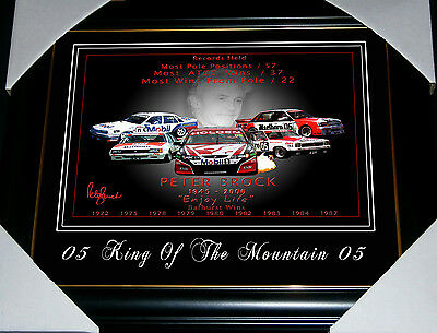 Peter Brock Former V8 Bathurst Racer Holden Commodore Torana Small Print Framed