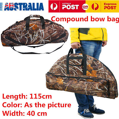 115cm Compound Bow Bag Archery Hunting Arrow Carry Bag Case Camouflage OZ
