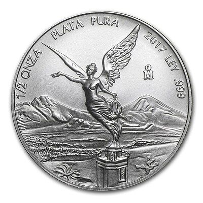 MEXIQUE  Argent 1/2 Once Libertad 2017 - 1/2 Oz silver coin