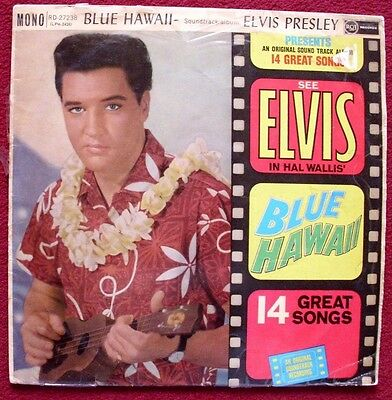 Elvis Presley Blue Hawaii Vinyl Soundtrack Album First Issue Rca (White Spot) Rd
