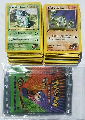 Pokemon Karten 10x Gym Challenge 1.Edition Neu & Mint EN Top 1999 + BONUS CARD