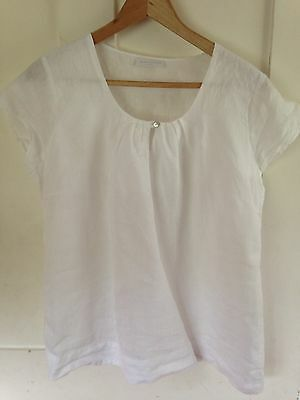 The White Company Linen Top Size 10