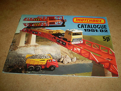 Matchbox Toy Catalogue 1981/82 Uk Edition  Excellent Condition For Age