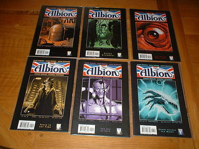 Albion 1,2,3,4,5,6. Complete Set / Lot. All Nm. Alan Moore.  Wildstorm